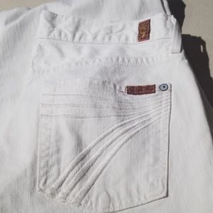White 7 for all  mankind  flare jeans.